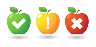Комплект значка Яблока с значками обзора Стоковое Изображение RF