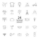 Комплект значка doodle каникул Стоковое Изображение