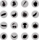 Комплект значка froot овощей, вектор Стоковая Фотография