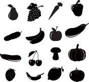 Комплект значка froot овощей, вектор Стоковое Изображение RF