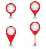 Комплект значка Pin карты, дизайна вектора Стоковое Фото