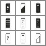 Комплект значков батареи Стоковая Фотография RF