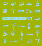 Комплект значков гигиены Стоковое фото RF