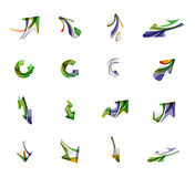 Комплект значков дела логотипа стрелки Стоковое Фото