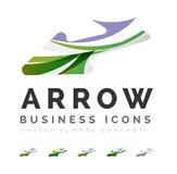 Комплект значков дела логотипа стрелки Стоковые Фото