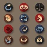 Комплект значков зодиака Стоковые Изображения