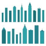Комплект значков здания вектора плоских изолированных на белой предпосылке бесплатная иллюстрация