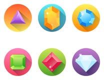 Комплект значков диаманта Стоковое Изображение
