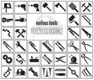 Комплект значков инструмента Стоковые Фото