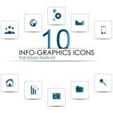 Комплект значков информаци-графиков Стоковая Фотография