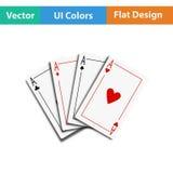 Комплект 4 значков карточки Стоковые Изображения RF