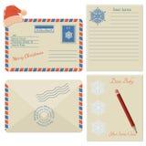 Комплект значков конверта рождества Стоковая Фотография RF