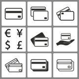 Комплект значков кредитной карточки Стоковые Фото