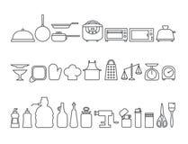 Комплект значков кухни Стоковая Фотография RF