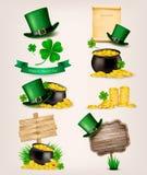 Комплект значков дня St. Patrick родственных Стоковое Изображение RF