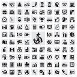 Комплект значков. образование Стоковая Фотография RF