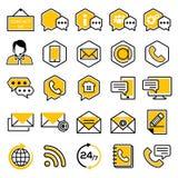 Комплект значков обслуживания клиента бесплатная иллюстрация