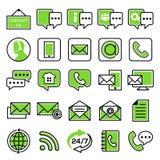 Комплект значков обслуживания клиента иллюстрация штока