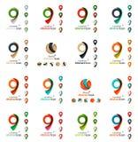 Комплект значков логотипа бирки карты Стоковые Фотографии RF