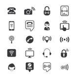 Комплект значков оператора центра телефонного обслуживания вектор Стоковое Фото