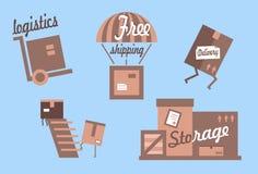 Комплект значков доставки стоковые изображения rf
