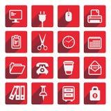 Комплект значков офиса в плоском дизайне Стоковое фото RF