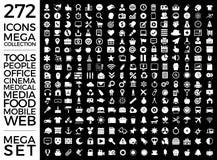 Комплект значков, пакет качества всеобщий, большой дизайн вектора собрания значка Стоковые Фотографии RF