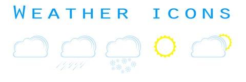 Комплект значков погоды Стоковая Фотография RF
