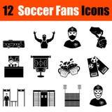 Комплект значков поклонников футбола иллюстрация вектора