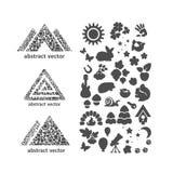 Комплект значков - природа Стоковая Фотография RF