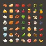 Комплект значков продукта завтрака иллюстрация вектора