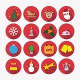 Комплект значков - рождество Стоковое Изображение RF