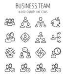 Комплект значков руководства бизнесом в современной тонкой линии стиле Стоковые Фотографии RF