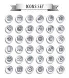 Комплект значков сети Стоковые Изображения RF