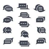 Комплект значков сообщения Различные пузыри речи Стоковое фото RF