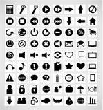 Комплект значков средств массовой информации Стоковые Фотографии RF