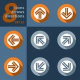 Комплект 8 значков - с стрелками бесплатная иллюстрация