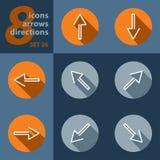 Комплект 8 значков, с стрелками иллюстрация вектора