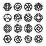 Комплект значков шестерни. иллюстрация вектора