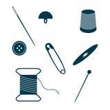 Комплект значков шить и needlework Стоковые Фото