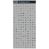 Комплект 200 значков экологичности бесплатная иллюстрация