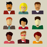 Комплект значков людей в плоском дизайне Стоковые Фотографии RF