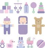 Комплект значков для младенца бесплатная иллюстрация