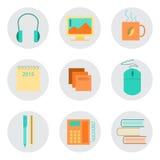 Комплект значков для офиса Стоковая Фотография