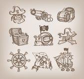 Комплект значков. Бесплатная Иллюстрация