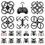 Комплект значков quadrocopters Стоковое Фото