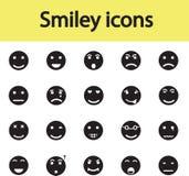 Комплект значков smiley с различными эмоциями Стоковое Изображение RF