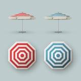 Комплект зонтика пляжного ресторана патио внешнего Стоковая Фотография RF