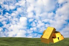 Комплект золота в слитках Стоковые Фото