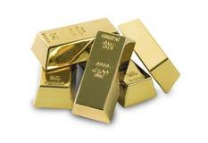 Комплект золота в слитках o Стоковые Изображения